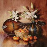 Gail Faulkner, Autumn Melody, watercolor, 17 x 17.