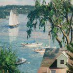 John Stobart, A View From Castine, oil, 12 x 9.