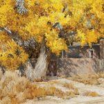 Morris Rippel, Santa Fe Afternoon, watercolor, 14 x 22.