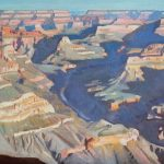 Ray Roberts, View Towards Horus Temple, Grand Canyon National Park, oil, 18 x 24.