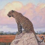 Lindsay Scott, Approaching Dusk, colored pencil, 30 x 30, InSight Gallery.