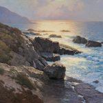 Dennis Doheny, Gentle Seas, oil, 30 x 36.