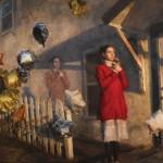 Julio Reyes, Apparition, oil, 42 x 60.