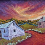 Jennifer Cavan, Last Colors of Day, oil pastel, 18 x 24.