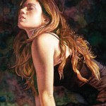 Steve Hanks, Listening to the Music, watercolor, 10 x 8.