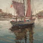 C.W. Mundy, The Appledore, oil, 12 x 9.