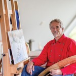 Craig Pursley in his studio in Bath, NH