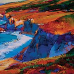 Michael McKee, Big Sur in Blue, pastel, 36 x 48.