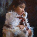 Michelle Dunaway, Alaskan Doll, oil, 26 x 18.