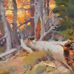 Louis Escobedo, Canyon View, oil, 12 x 16.