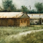 Matthew J. Cutter, Farm Buildings, oil, 20 x 30.