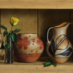 William Acheff, Blossoms and Leaves, oil, 12 x 20.