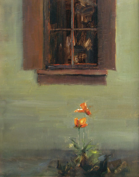 Dave Santillanes, Poppies, oil, 10 x 8.