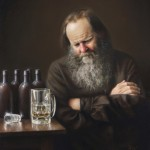 Michael Devore, A Few Too Many, oil, 28 x 24.