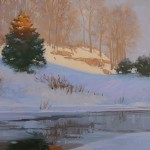Craig Pursley, Daybreak in Warms and Cools, oil, 16 x 20.