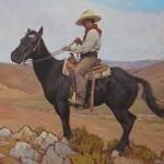 Glenn Dean, Vaquero, oil, 24 x 24.