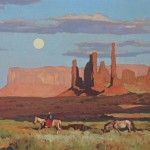Glenn Dean, Navajo Moonrise, oil, 16 x 20.