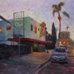 Danny Griego, Turf Club, oil, 11 x 14.