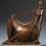 Wayne Salge, Millicent, bronze, 20 x 17 x 8.