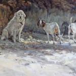John Austin Hanna, Pyrenees and Company, oil, 24 x 30.