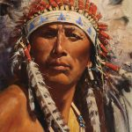 David Mann, American Spirit, oil, 9 x 12.