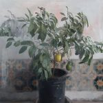 Zoey Frank, Lemon Tree, oil/graphite, 36 x 36.