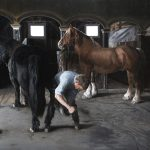 Clark Gussin, The Farrier Hears the Call of the Sea, oil, 48 x 60.