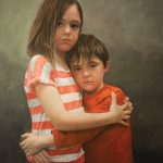 Shana Levenson, Sibling Bond, oil, 36 x 24.