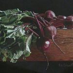 Eileen Nistler, A Study of Beets, colored pencil, 8 x 13