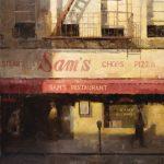 Terry Miura, Sam's, oil, 36 x 36.