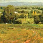 Terry Miura, Sonoma Idyll, oil, 20 x 36.