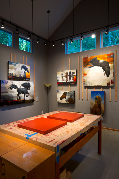 Craig Kosak's art studio on Whidbey Island, WA