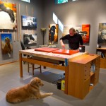Craig Kosak at his art studio on Whidbey Island, WA