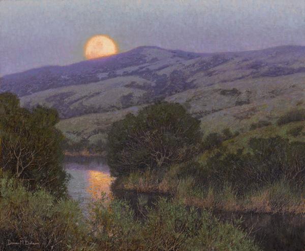 Dennis Doheny, Yellow Moon, oil, 20 x 24.