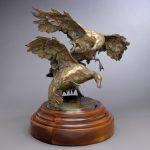 Mallard Duet, bronze, 25 x 31 x 23.