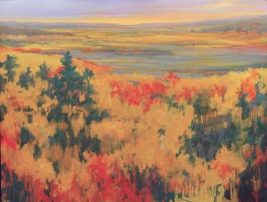 Teruko Wilde, Late Summer Southwest, oil, 44 x 52.