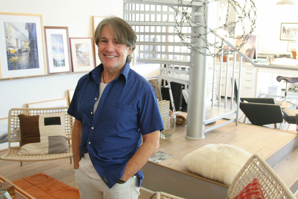 Thomas Schaller at his art studio in Venice, CA