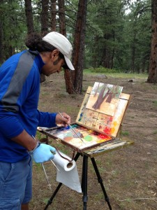 Plein-air Painter Raj Chaudhuri