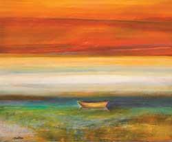 John Axton, Charlotte Reflections, oil, 20 x 24.