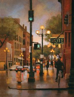 Teresa Saia, Sidewalk Renegade, pastel, 24 x 18.