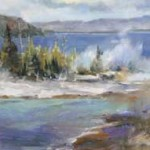 Betty Carr, jackson thermal pool, oil, 16 x 20.