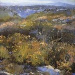 Margi Lucena, Truchas Vista, November, pastel, 11 x 14.