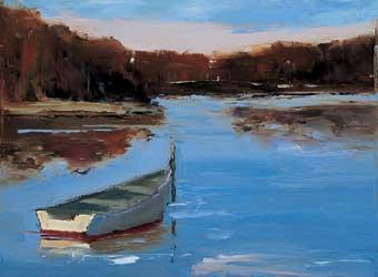 Wye River Boat by Bethanne Kinsella Cople