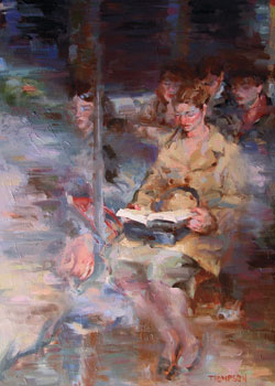 Subway Reading by Darren Thompson