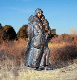Crossing the Prairie by Glenna Goodacre
