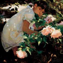 Secret Garden, oil, 24 x 24.