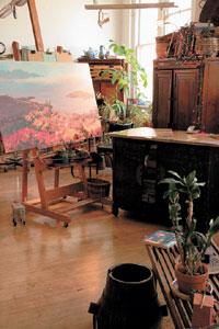 Kristen Olsen's studio
