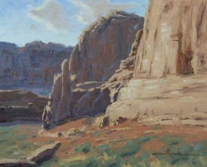 Chuck Rawle, Canyon Colors, oil, 8 x 10.
