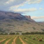 Chuck Rawle, Summer Hay, oil, 12 x 16.
