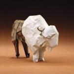 Kevin Box, White Bison, bronze, 21 x 12 x 4.